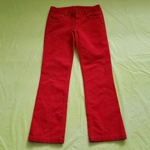 J CREW favorite fit red corduroy straight pants